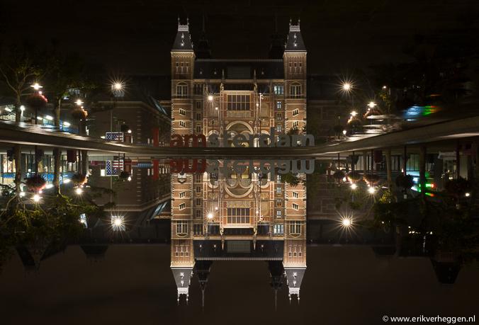 Rijksmuseum bij nacht door Erik Verheggen fotografie Amsterdam