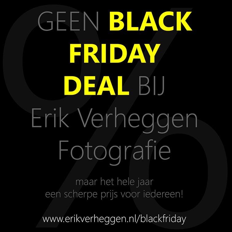 Black Friday bij Erik Verheggen Fotografie Amsterdam